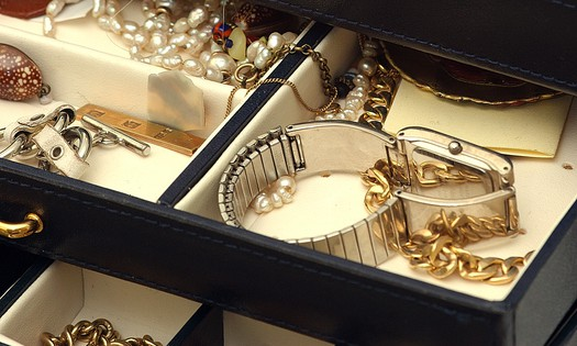 jewellery in a box